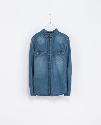 Koszula jeansowa z serii basic ZARA (źródło: zara.com)