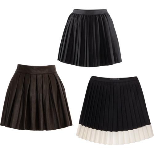 Plisowane spódniczki z rozkloszowanym dołem (źródło: pinterest.com)
