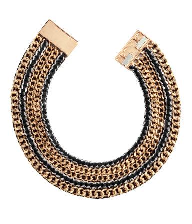 Naszyjnik w kształcie metalowej obręczy H&M (źródło: www.hm.com)