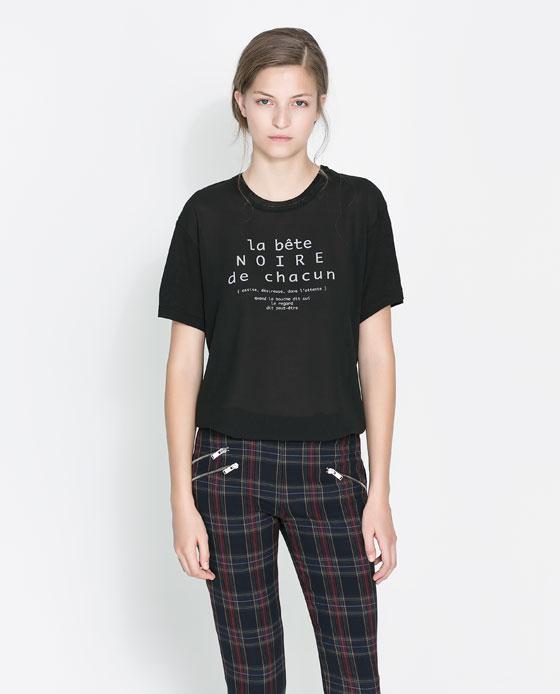 Spodnie w kratę ZARA (źródło: zara.com)