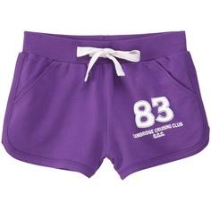 Sportowe szorty w modnym odcieniu fioletu (źródło: pinterest.com)