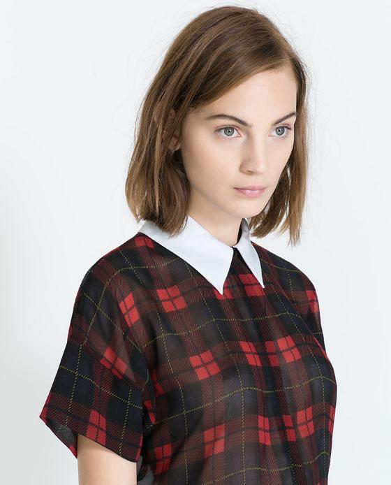 Koszula w kratę ZARA (źródło: zara.com)