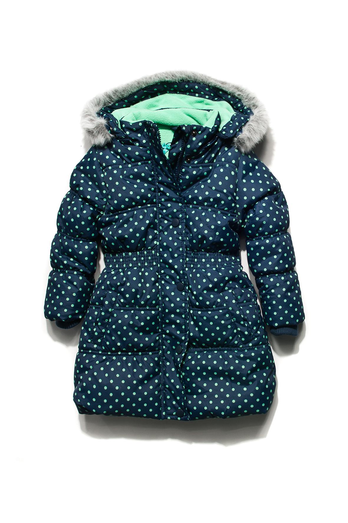 Płaszcz dziewczęcy w urocze groszki (źródło: www.51015kids.eu)