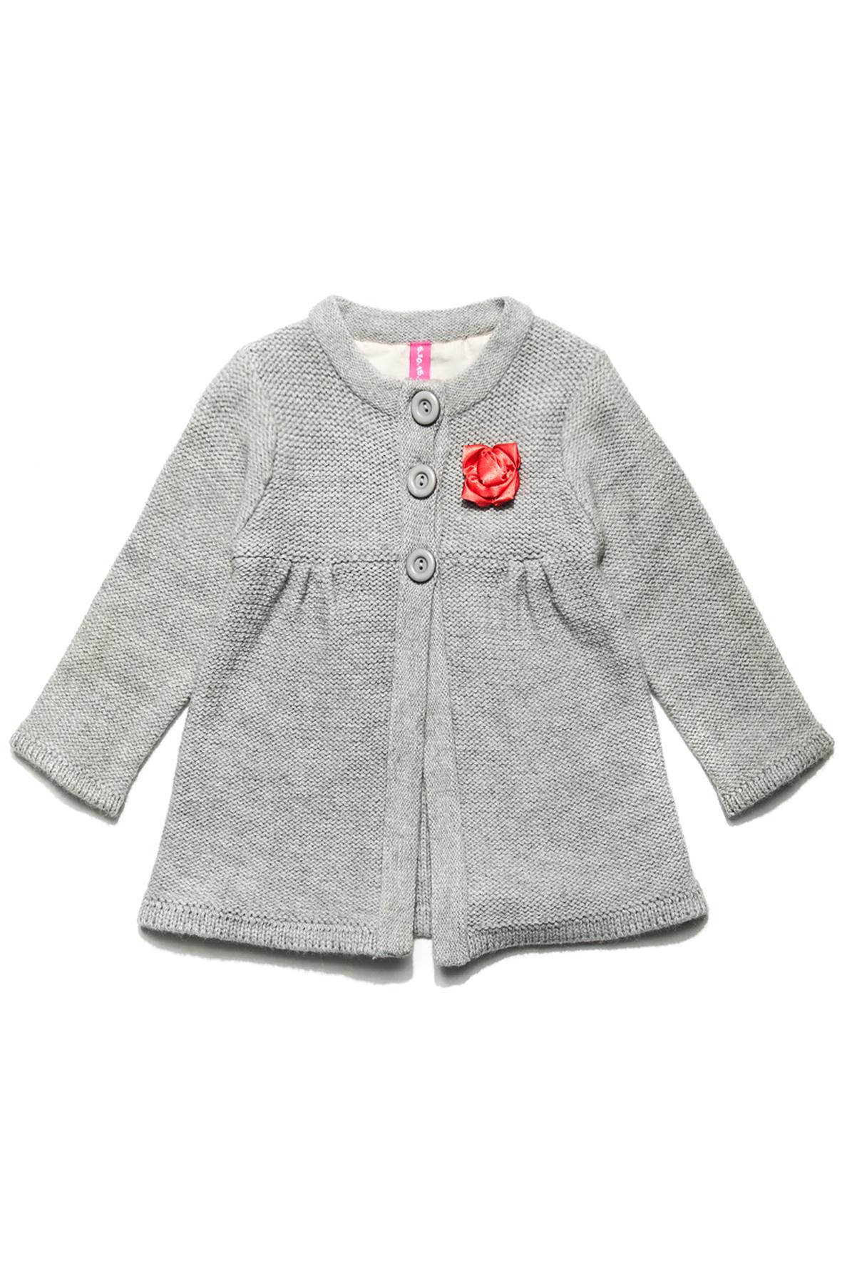 Sweterek dziewczęcy z ozdobna aplikacją (źródło: www.51015kids.eu)