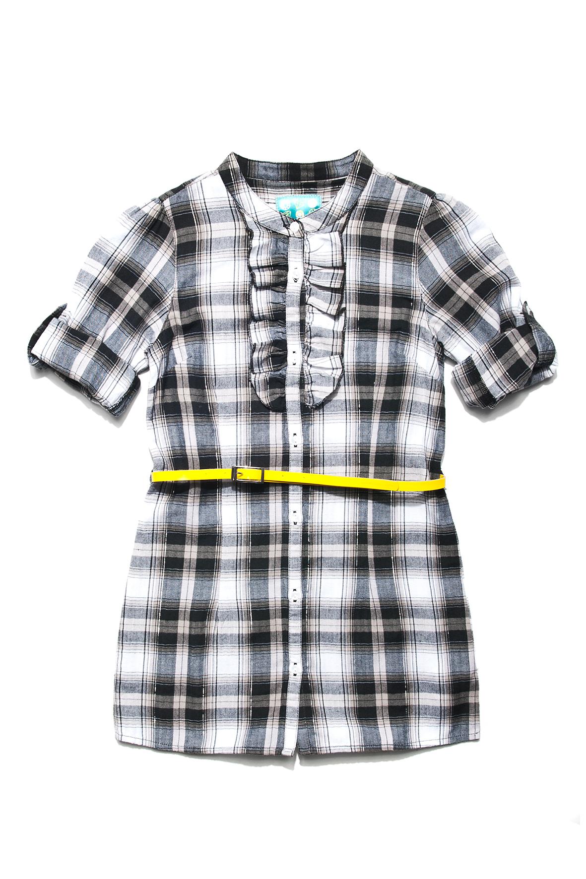 Tunika dziewczęca w modną kratkę - nowa cena 34,99 (źródło: 51015kids.eu)