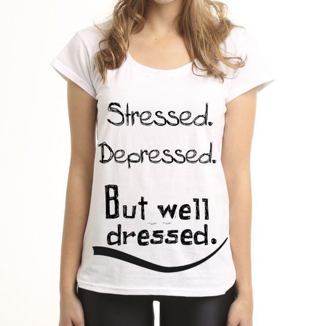 T-shirt Stressed Depressed (źródło: www.mybaze.com)