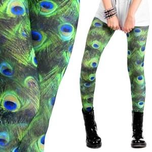 Legginsy - pawie pióra (źródło: www.mybaze.com)