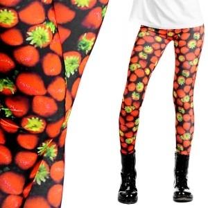 Legginsy w truskawki (źródło: www.mybaze.com)