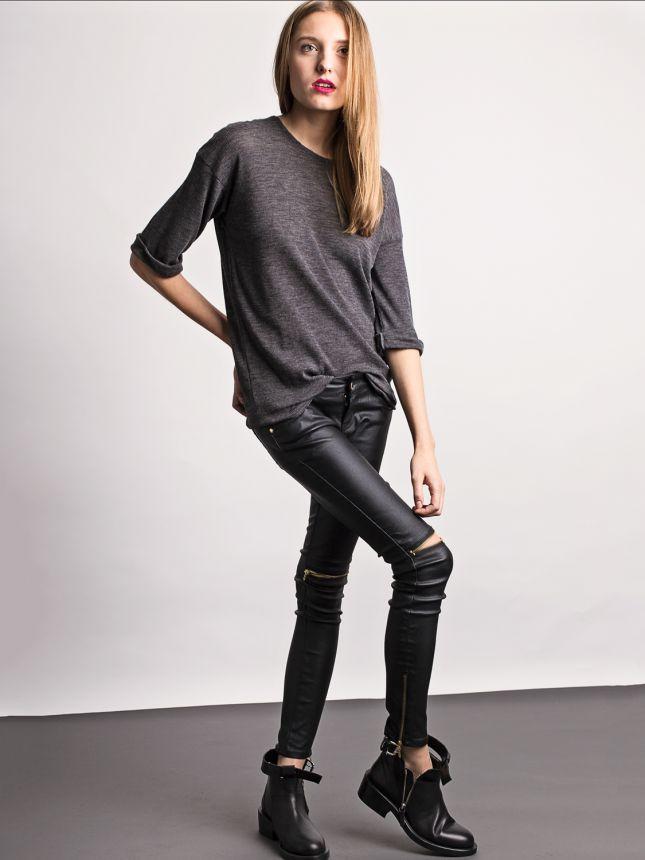 Skórzane spodnie z zamkami (źródło: www.mybaze.com)