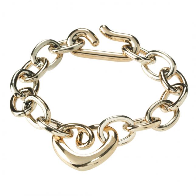 Łańcuchowa bransoletka w kolorze złota