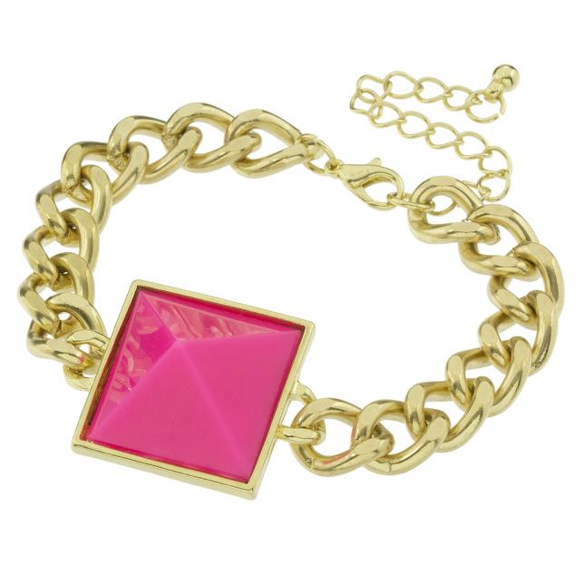 Łańcuchowa bransoletka z ozdobnym oczkiem