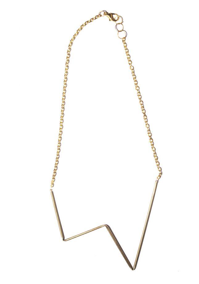 Naszyjnik geometryczny w kolorze złota