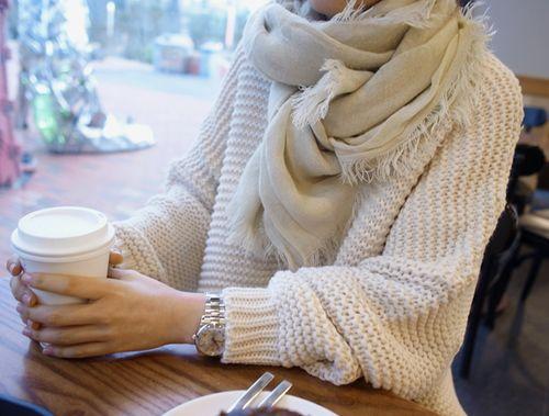 gruby sweter damski