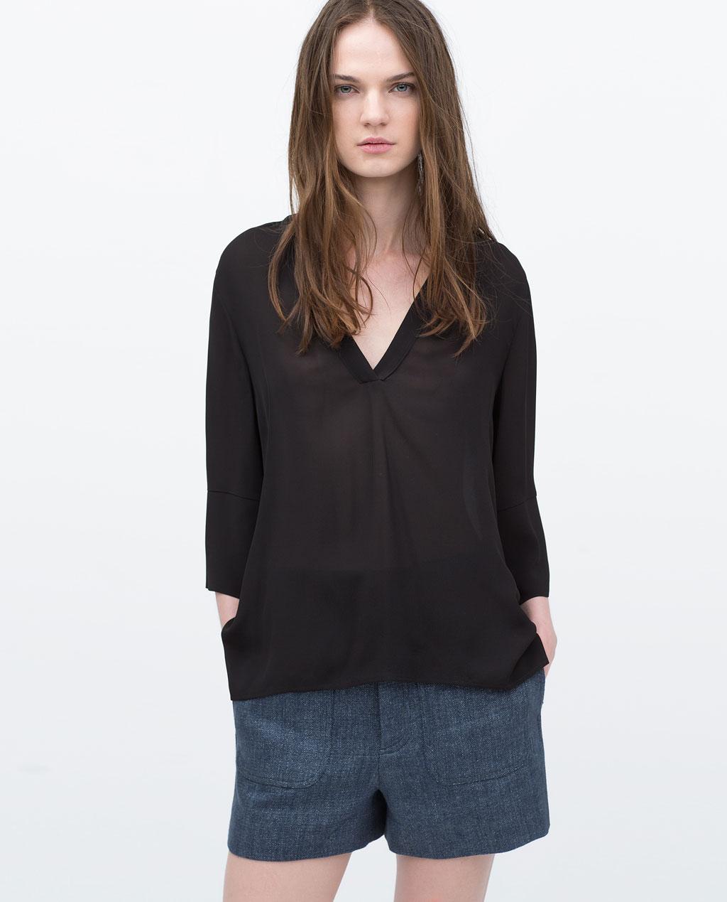 czarna koszula (źródło: zara.com)
