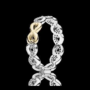 pierścionek z symbolem nieskończoności