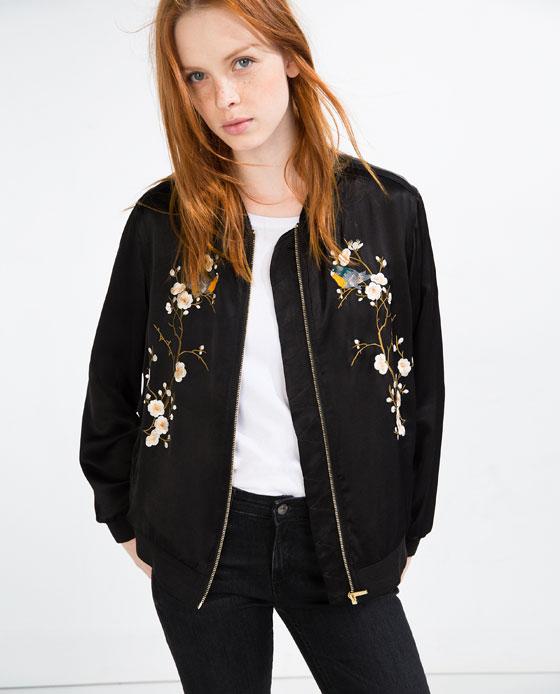 haftowana bomber jacket (źródło: zara.com)