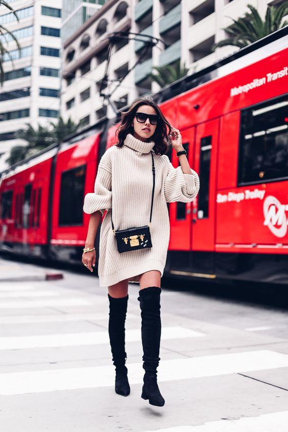 przepiękne buty damskie z kolano do swetra noszonego zamiast sukienki
