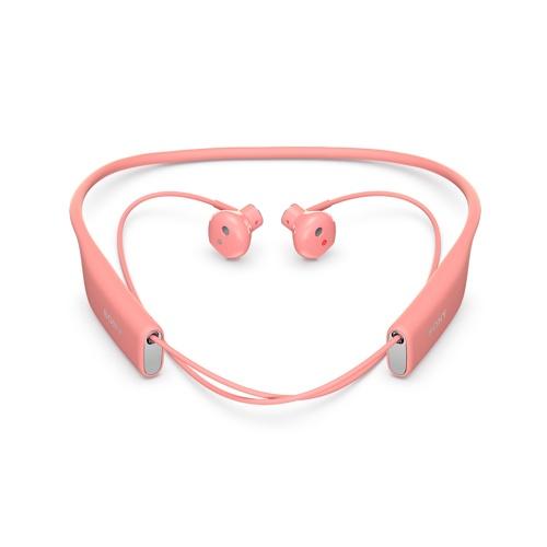 akcesoria do telefonów sony, tu bezprzewodowe słuchawki do uszne w kolorze pastelowego różu