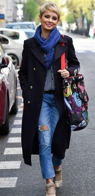 dorota gardias w modnym płaszczu