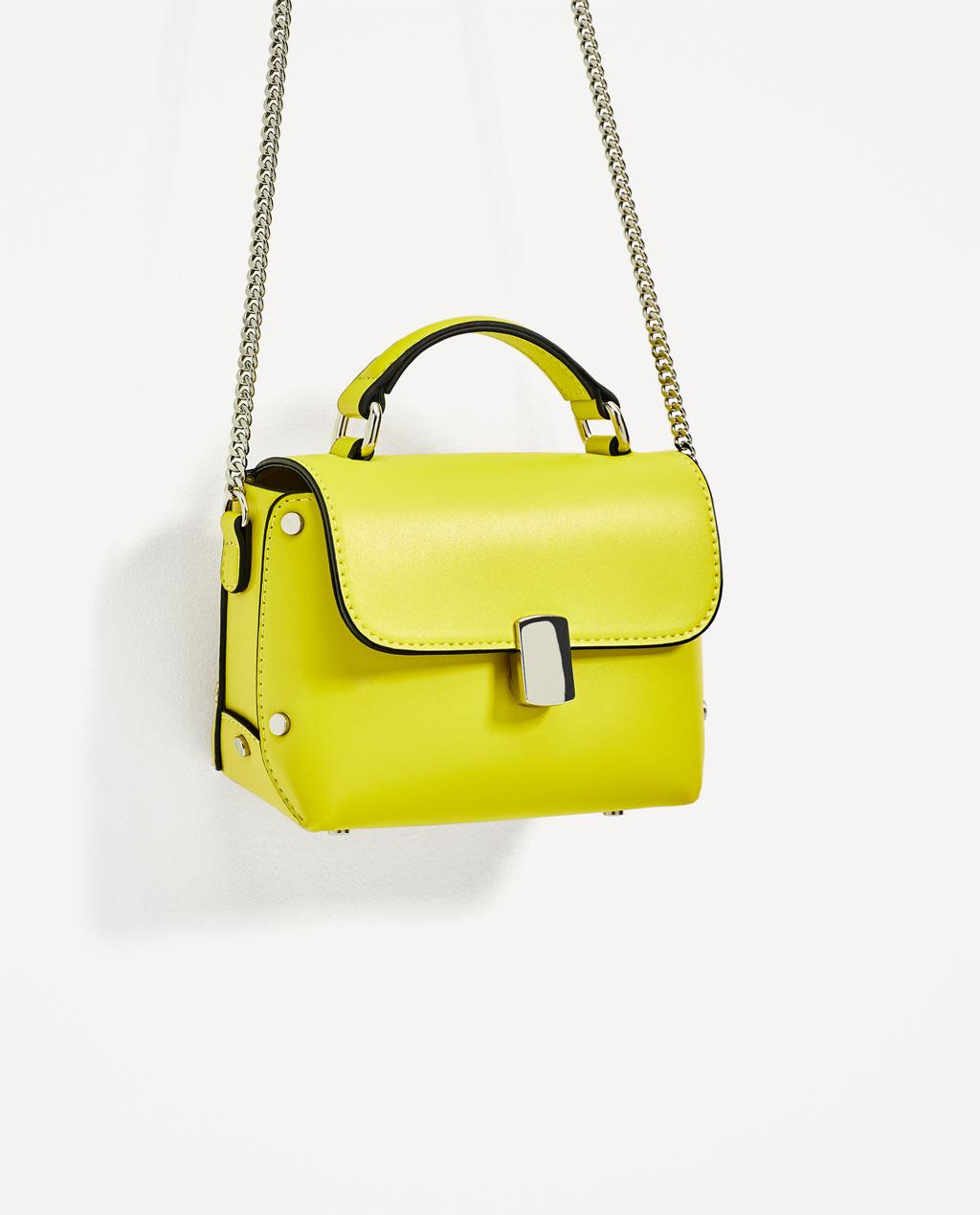 żółta mała torebka
