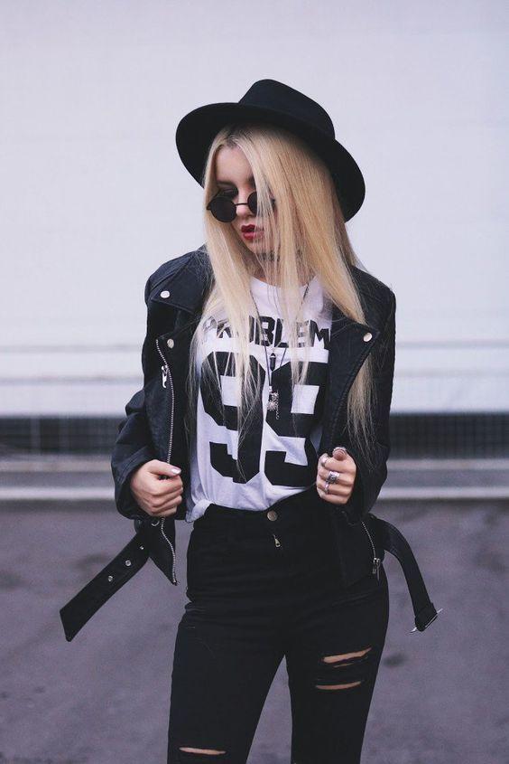 rockowy look