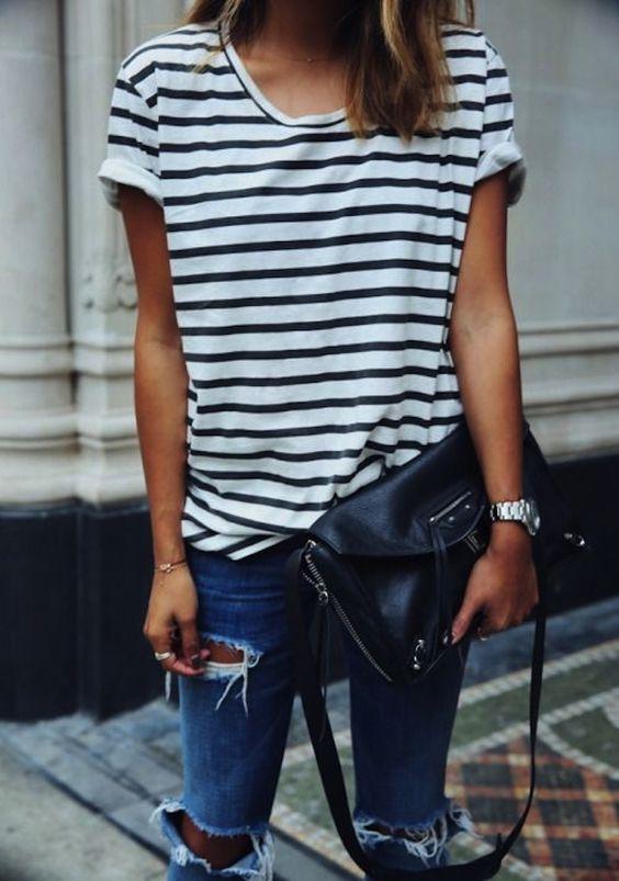 modna bluzka w paski