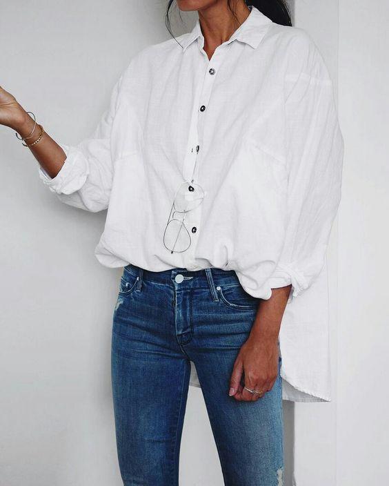 biała koszula stylizacje