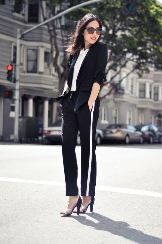 eleganckie spodnie z lampasami