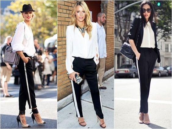 modne spodnie z lampasami