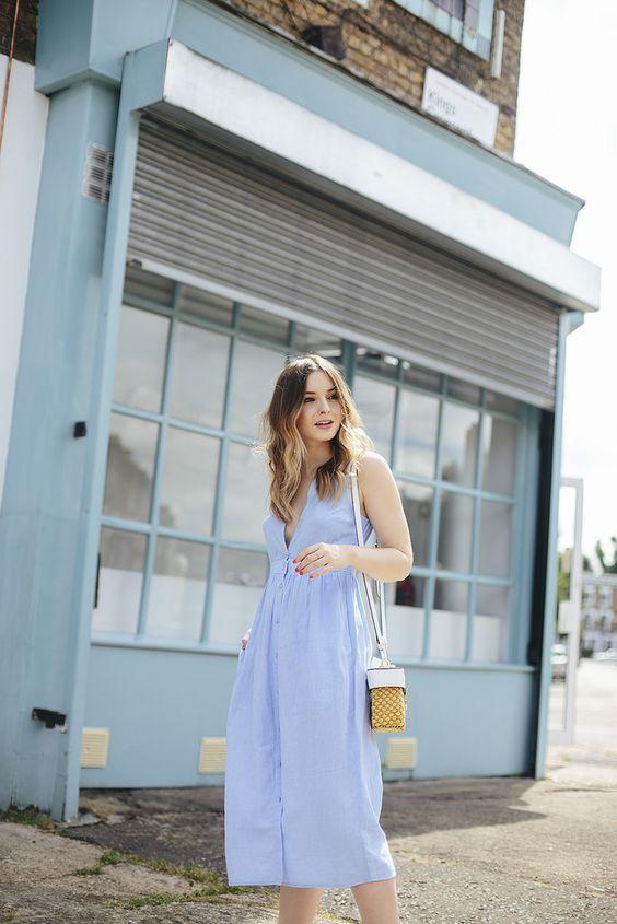 baby blue sukienka
