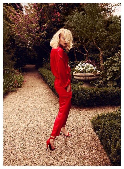 modna czerwień