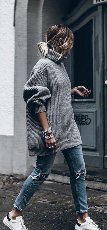 sweter oversize stylizacje
