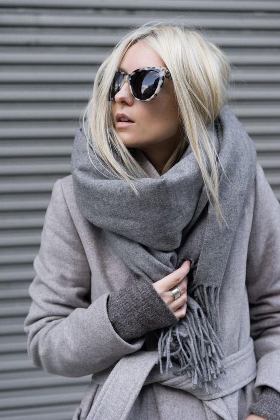 modne szare płaszcze